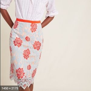 NWT Lucia lace pencil skirt